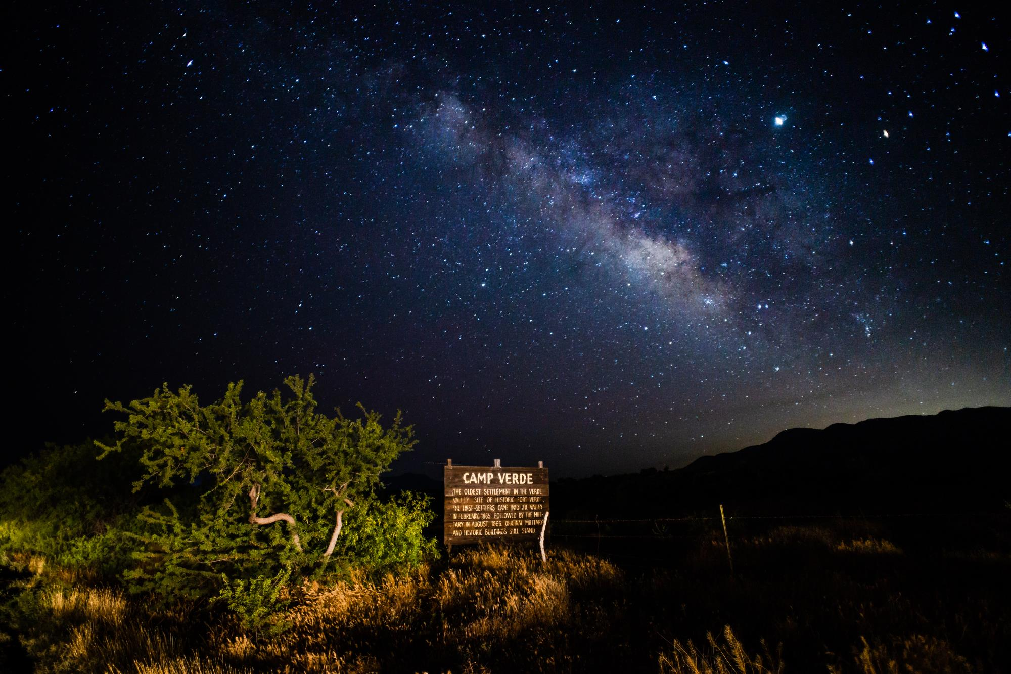 Camp Verde night sky
