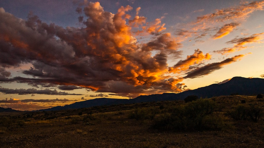 Clouds over Camp Verde at sunset